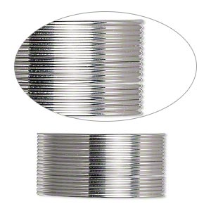wire, beadalon, stainless steel, 3/4 hard, round, 20 gauge. sold per pkg of 6 meters.