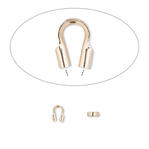 wire protector, accu-guard™, 14kt rose gold-filled, 4x4mm tube, 0.5mm inside diameter. sold per pkg of 10.