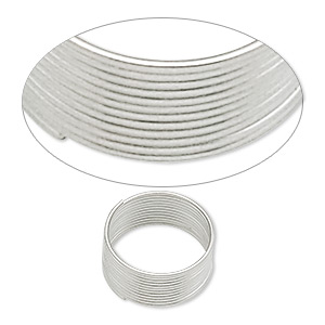 wire, stainless steel, 0.4-0.5mm thick, 1/2 inch inside diameter. sold per pkg of 12 loops.