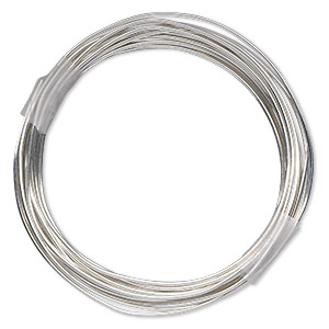 wire, sterling silver-filled, dead-soft, round, 18 gauge. sold per pkg of 10 feet.