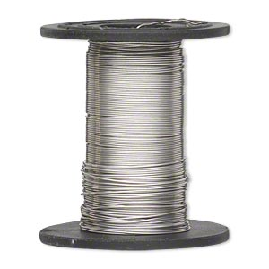 wire, sterling silver-filled, dead-soft, round, 28 gauge. sold per 1-ounce spool, approximately 100 feet.