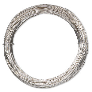 wire, sterling silver-filled, full-hard, round, 24 gauge. sold per 100-foot spool.