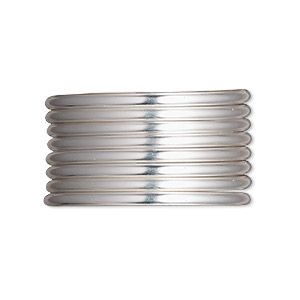 wire, sterling silver-filled, half-hard, round, 12 gauge. sold per pkg of 5 feet.