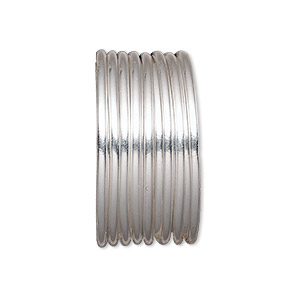 wire, sterling silver-filled, half-hard, round, 16 gauge. sold per pkg of 5 feet.