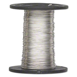 wire, sterling silver-filled, half-hard, round, 30 gauge. sold per 1-ounce spool, approximately 160 feet.
