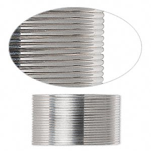 wire, sterling silver, full-hard, half-round, 21 gauge. sold per pkg of 5 feet.