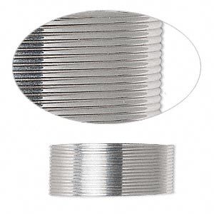 wire, sterling silver, full-hard, half-round, 22 gauge. sold per pkg of 5 feet.