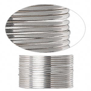 wire, sterling silver, full-hard, round, 16 gauge. sold per pkg of 5 feet.