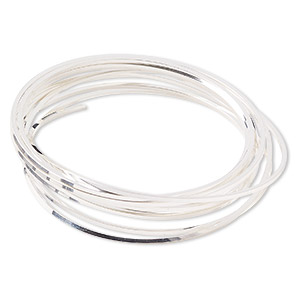wire, sterling silver, full-hard, square, 18 gauge. sold per pkg of 5 feet.