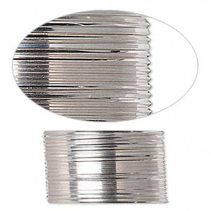 wire, sterling silver, half-hard, square, 21 gauge. sold per pkg of 5 feet.