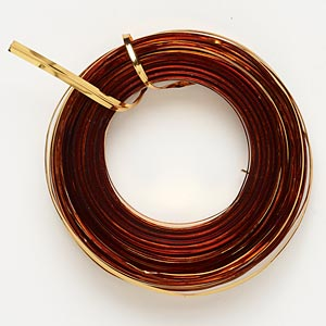 wire, westrim, plastic-coated steel, gold, 4mm wide twist tie. sold per 25-yard spool.