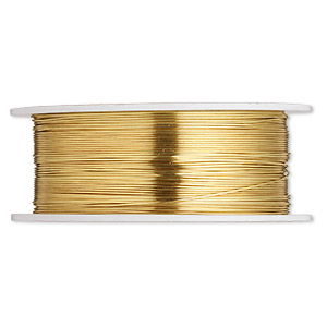 wire, wrapit, jewelers bronze, dead-soft, round, 24 gauge. sold per 1/4 pound spool, approximately 220 feet.