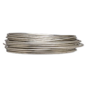 wire, zebra wire™, copper, silver color, round, 14 gauge. sold per 5-yard spool.