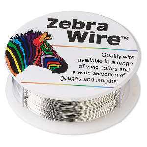 wire, zebra wire™, copper, silver color, round, 26 gauge. sold per 1/4 pound spool, approximately 115 yards.