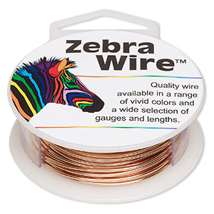 wire, zebra wire™, natural copper, round, 18 gauge. sold per 10-yard spool.