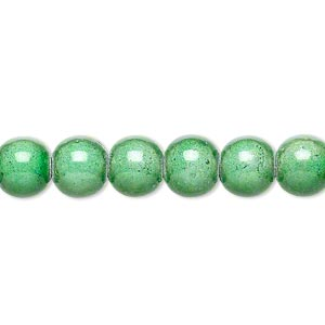 wonder bead, acrylic, mint green, 8mm round. sold per 16-inch strand.